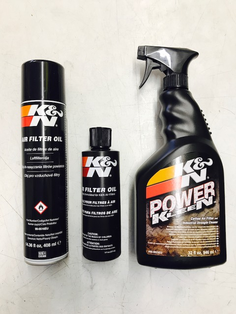 K+N filter spray, squeeze on oil and Powerclean