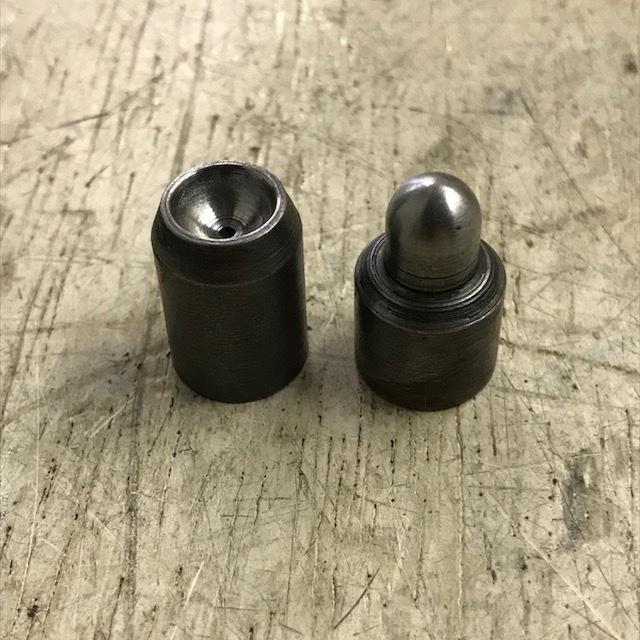Push rod top and bottom end