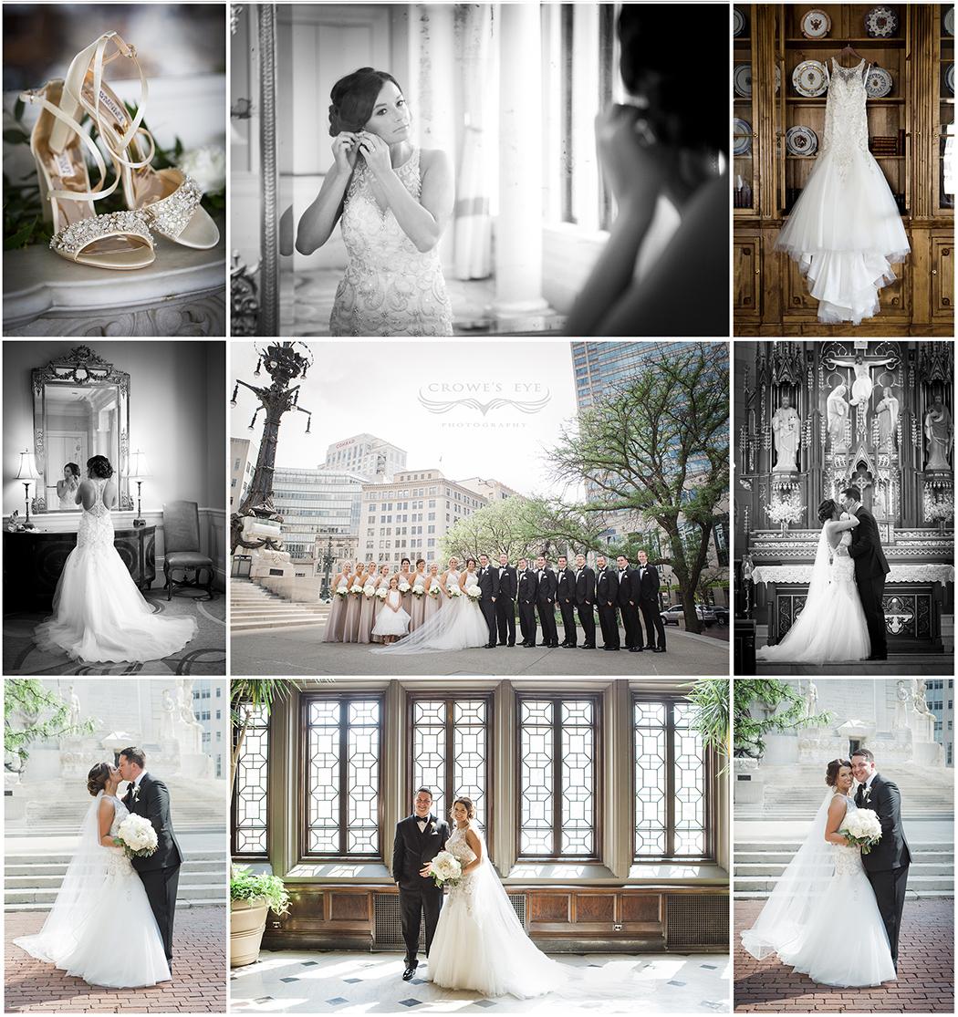 Columbia Club wedding collage
