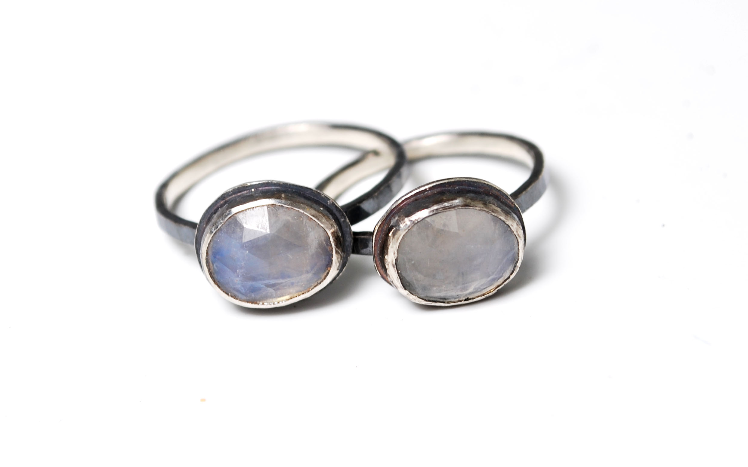Silver and moonstone