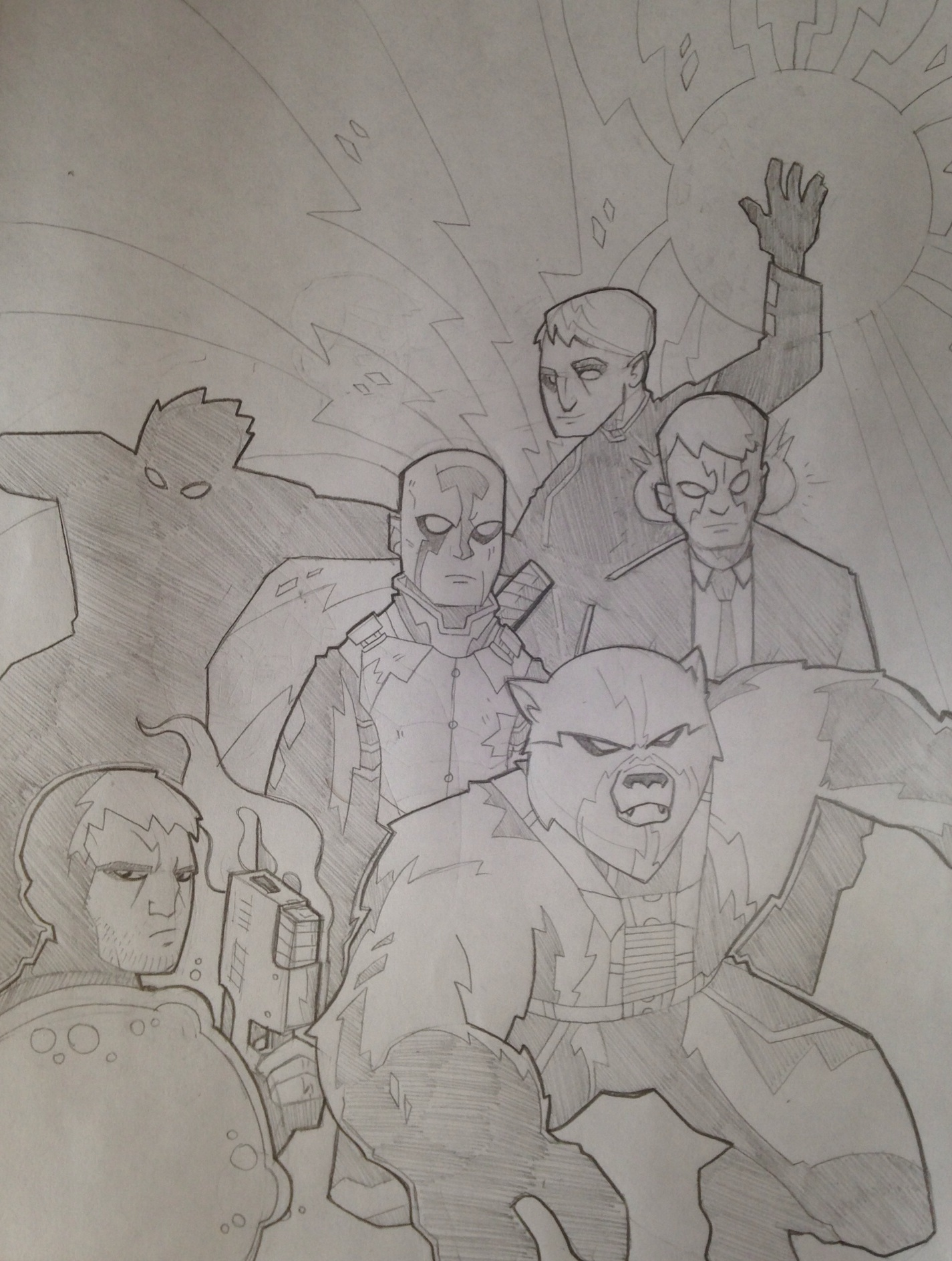 Original pencil drawing.