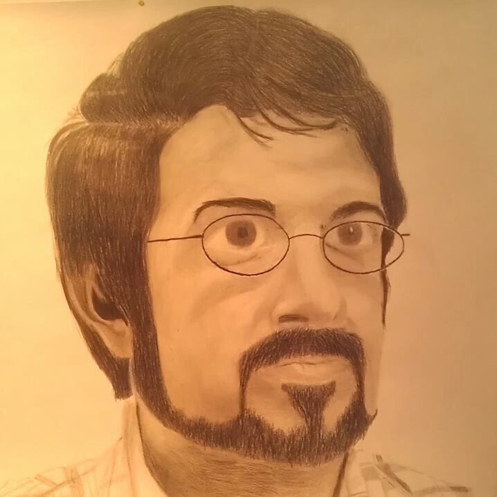 Self portrait - copyright 2013 Chris Ortiz