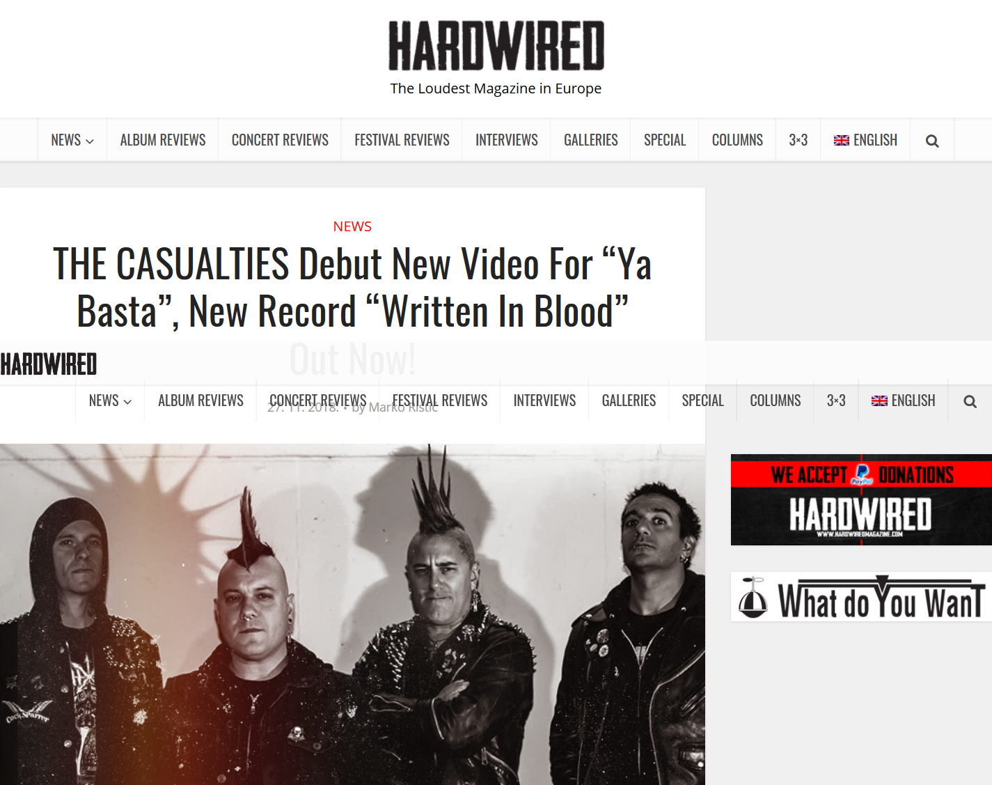 "Screenshot_2019-05-29 THE CASUALTIES Debut New Video For ""Ya Basta"", New Record 'Written In Blood' Out Now .png"