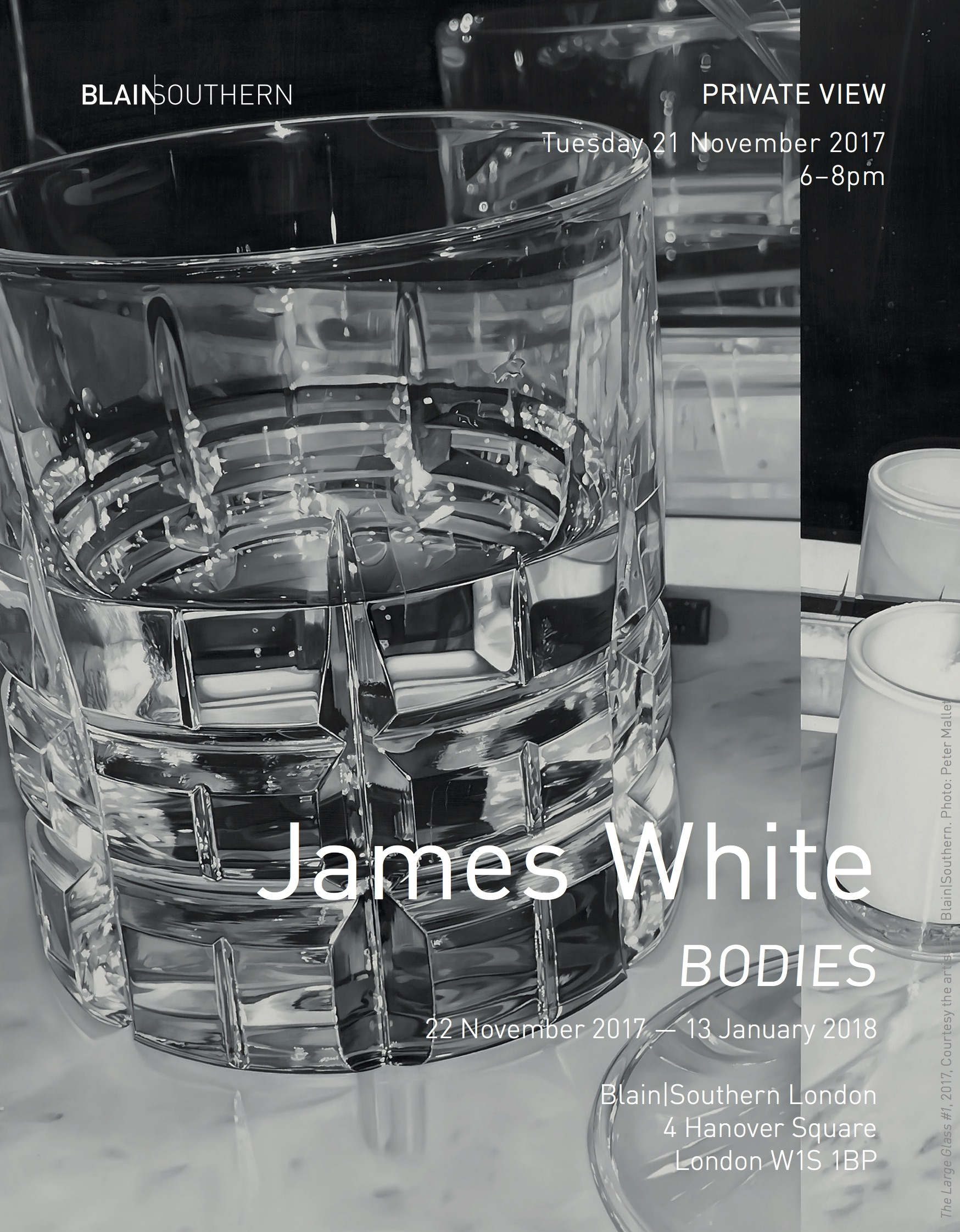 Pivate View Invitation, Tuesday 21 November 2017, James White, BODIES, BlainSouthern London.jpg