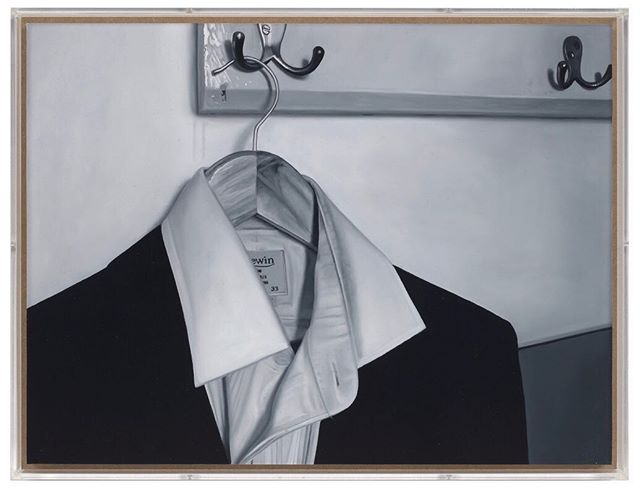 Dirty shirt  2009 Oil and varnish on birch ply in perspex box frame  50 x 37.5cm #art #painting #oilpaintings #artist #artwork #artoftheday #contemporarypainting #contemporaryart #artviewers #modernart #grouchoclub #kunst