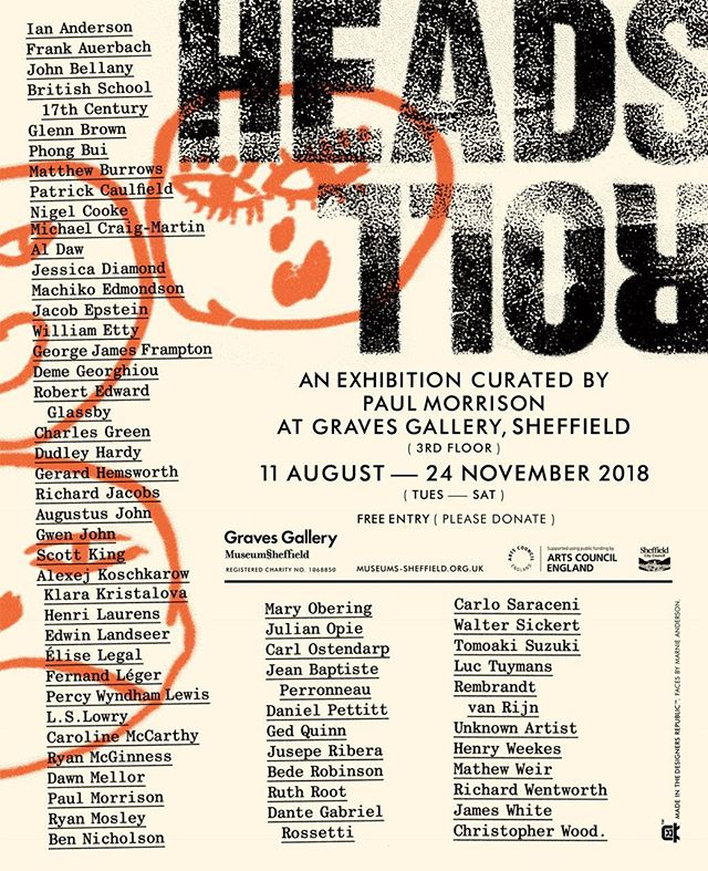 Happy to be included in HEADS ROLL Curated by @paulmorrisonstudio @museumssheffield #gravesgallery #sheffield #groupshow
