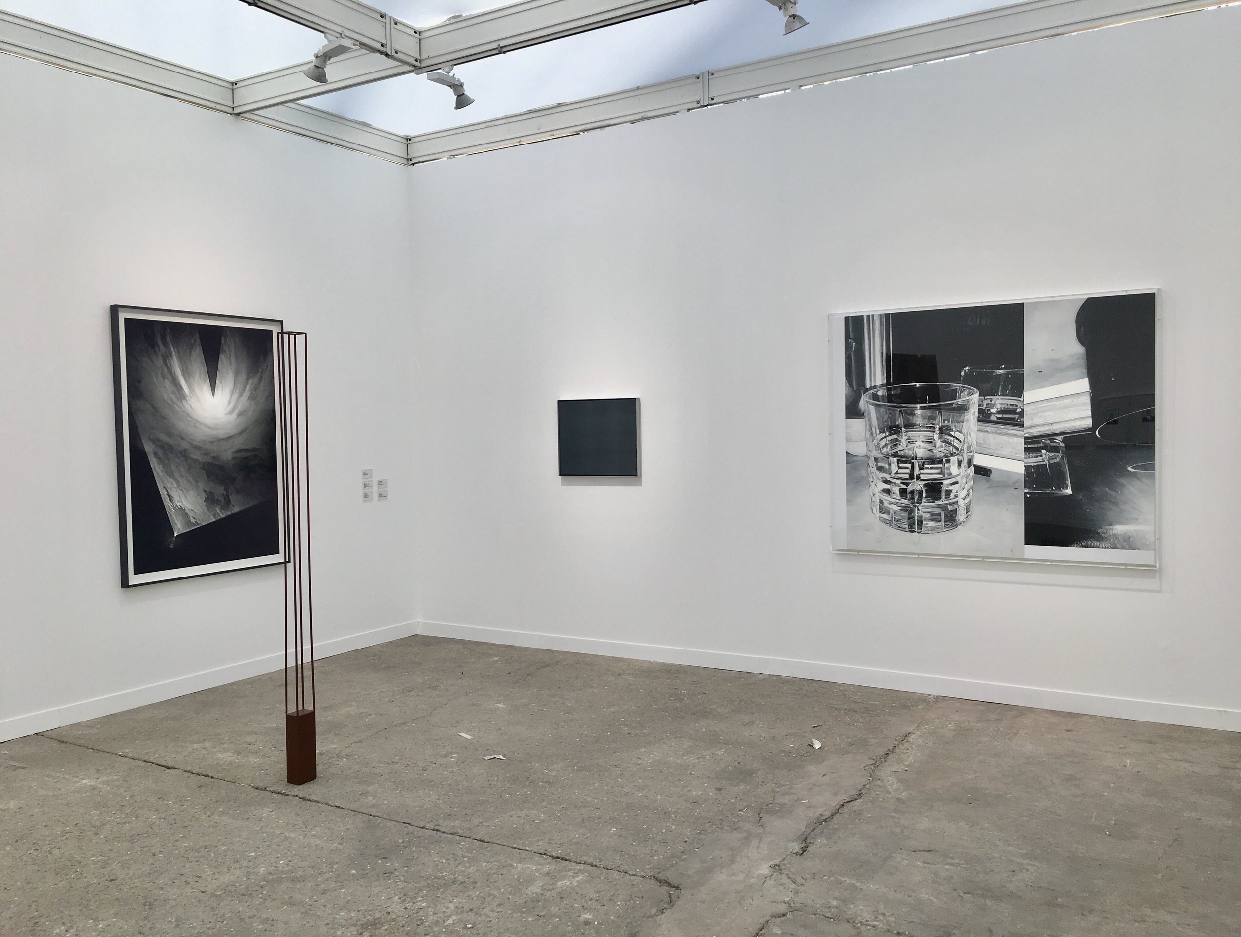 Installation view: Anthony McCall, Peter Downsbrough, Gerhard Richter, James White