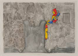 Jasper Johns (American, born 1930)  Untitled. 2013. Watercolor on paper.