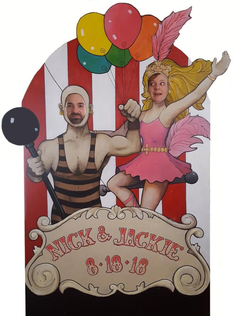"Circus cutout 78"" x 48"""