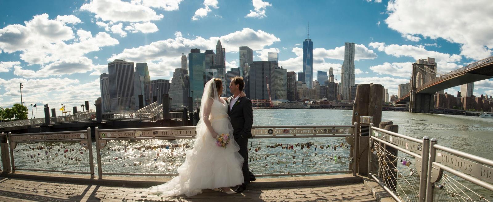 The East River, Brooklyn Bridge panorama