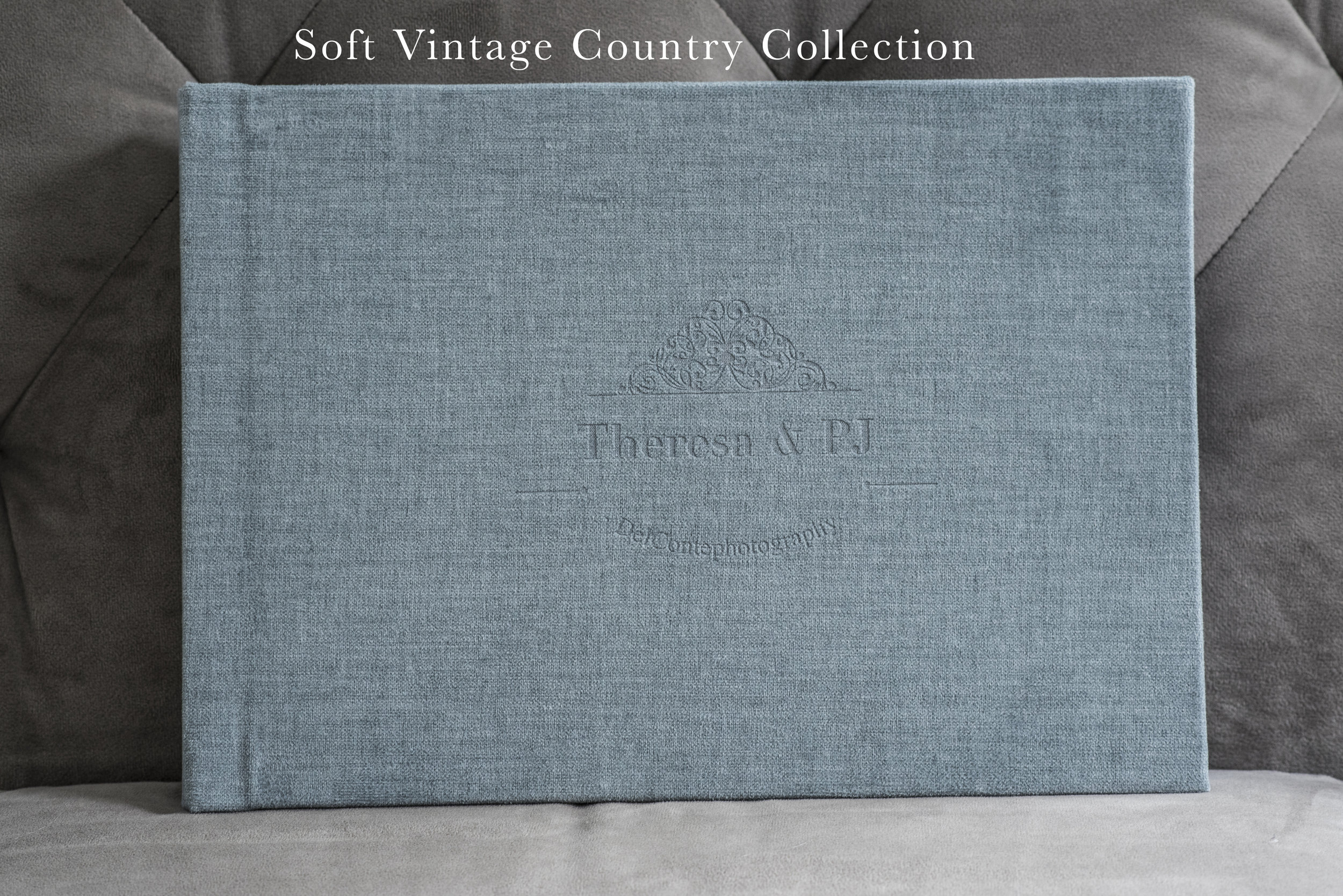 The Country chic collection is in a velvety, lazer engraved, long lasting fabric.Colors are soft and lovely and work well with engagements, family albums, casual wedding, country affairs.