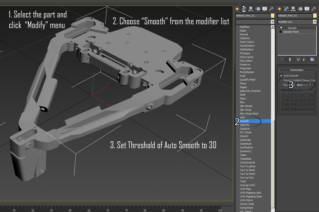 Settings for 3Ds Max