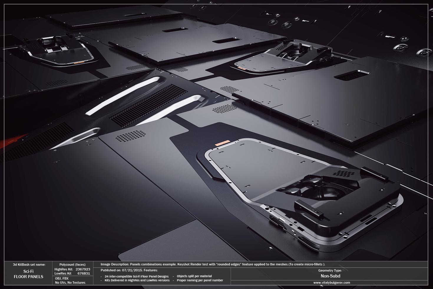 Sci-Fi Floor Panels — Vitaly Bulgarov