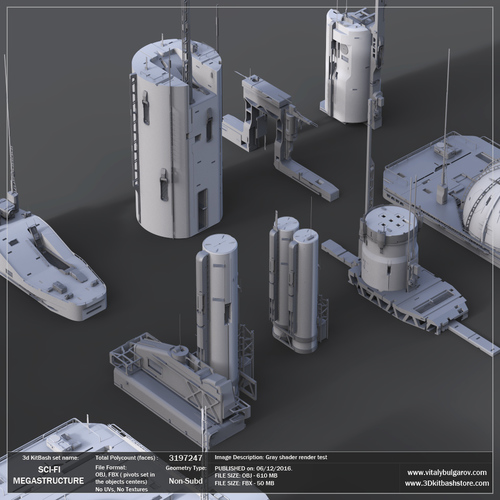 2-5 People Team Use License for 5 Sets: Ultraborg, Megastructure, Sci-Fi  Panels, Props, Crates — Vitaly Bulgarov