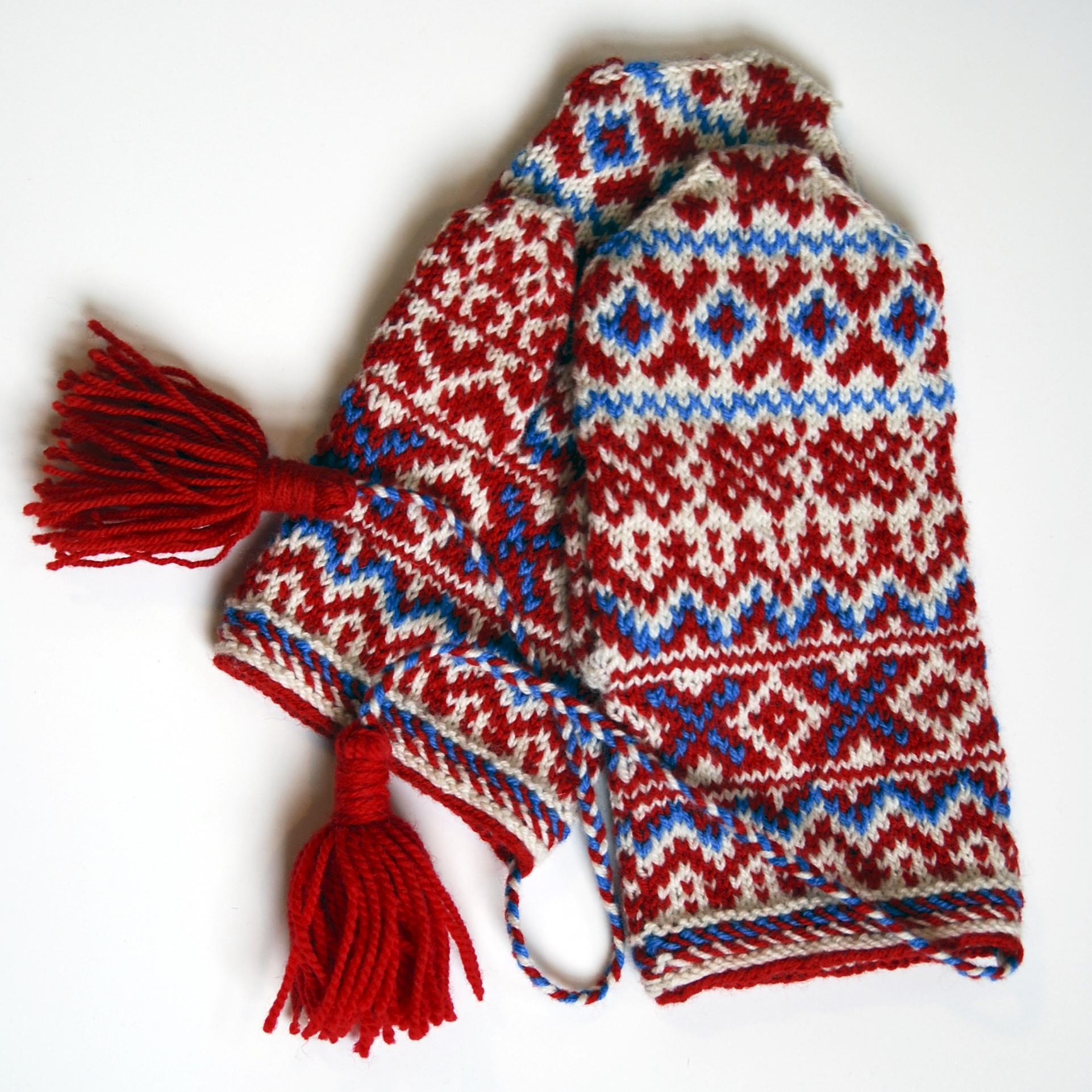 Kautokeino adult mittens,  knit by stashmuffin