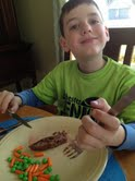 Never were the kids so happily obliging to eat meatloaf.