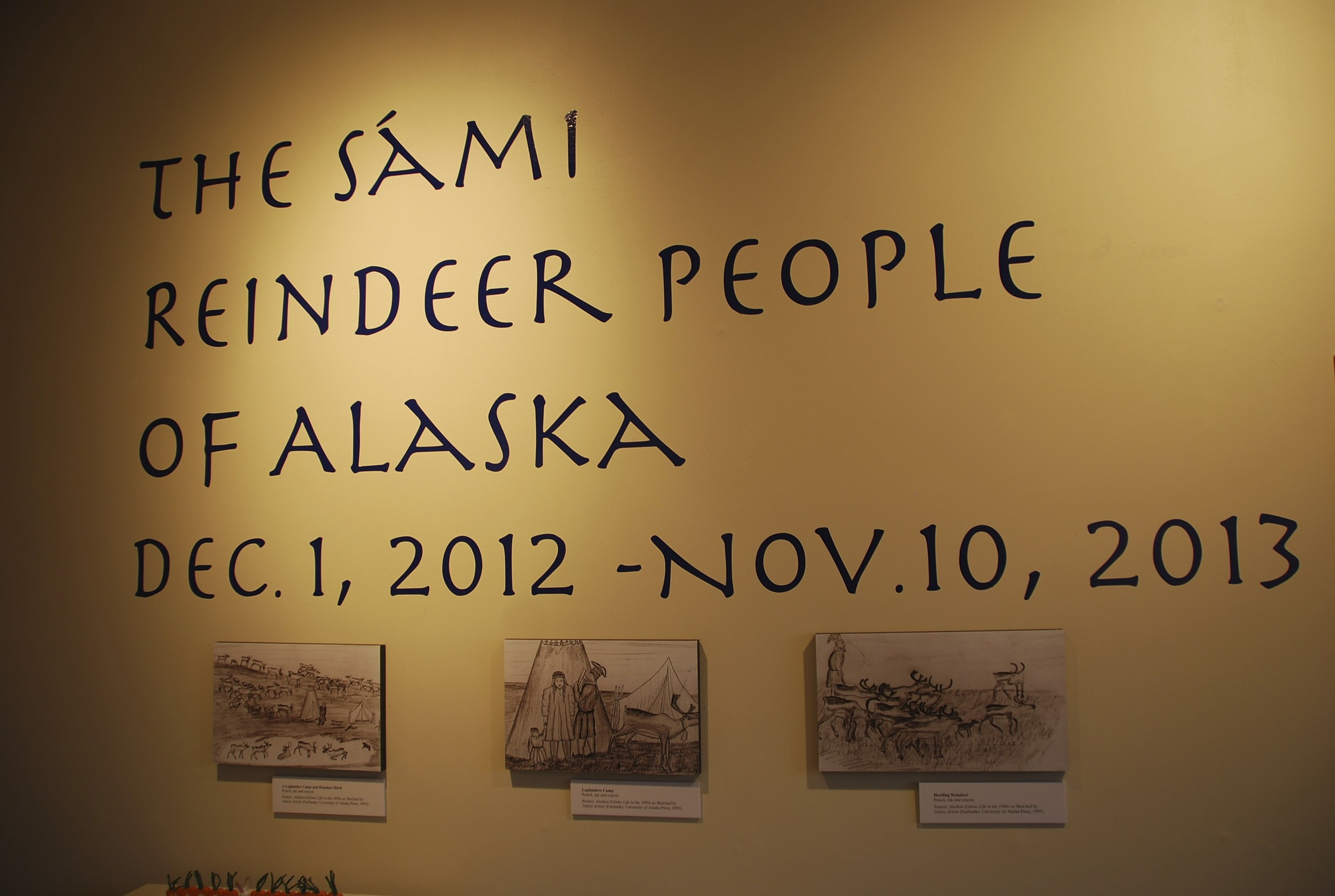 The Vesterheim's Sámi exhibit.