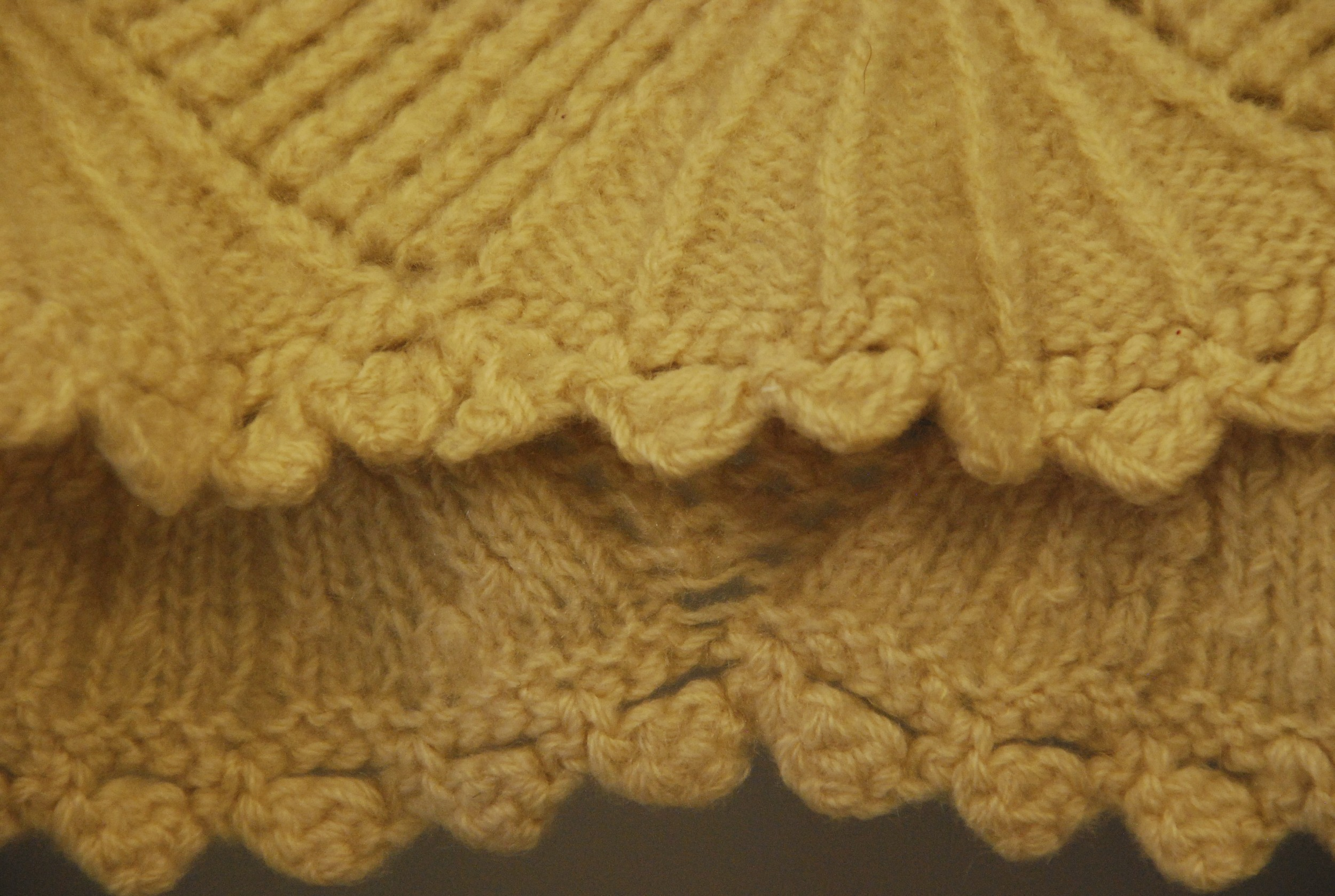 the edging of a lace knit petticoat