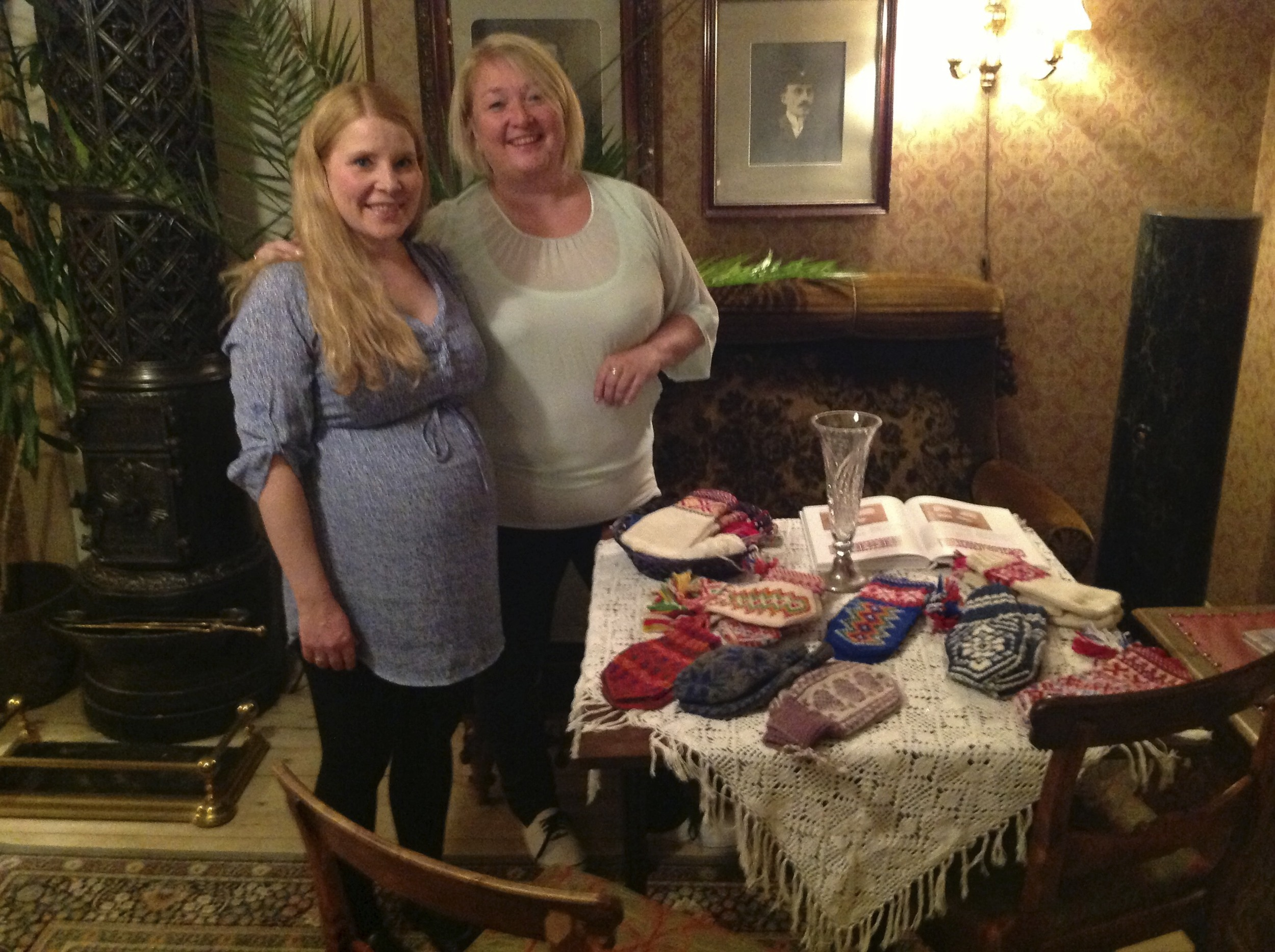 Renate and a wonderful knitter, Turi