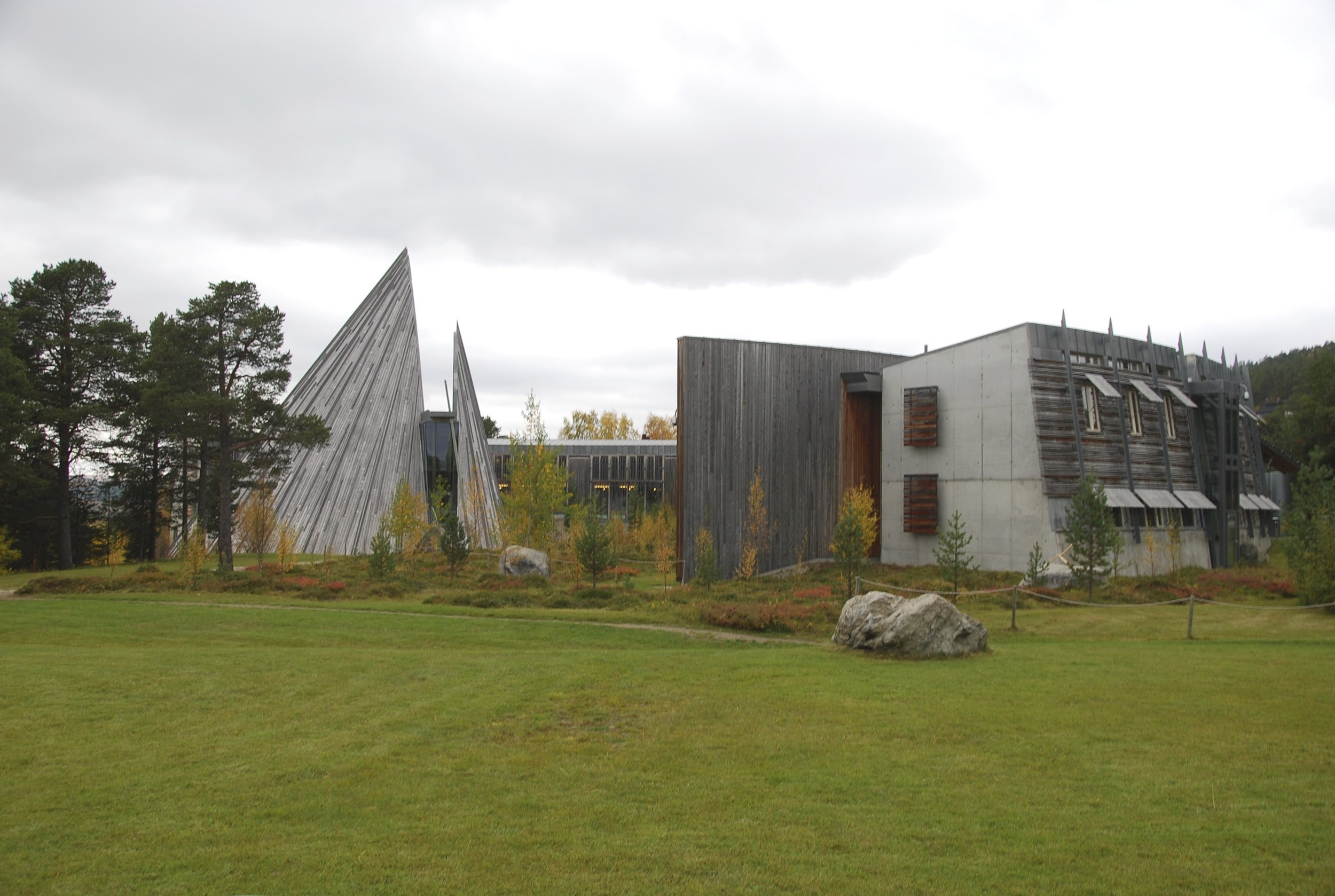 The Sámi parliament building in Karasjok, Norway