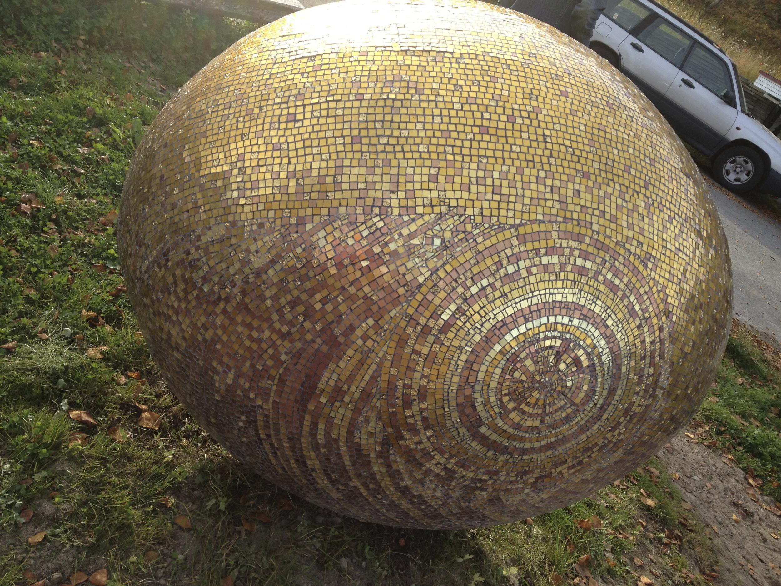An outdoor mosaic