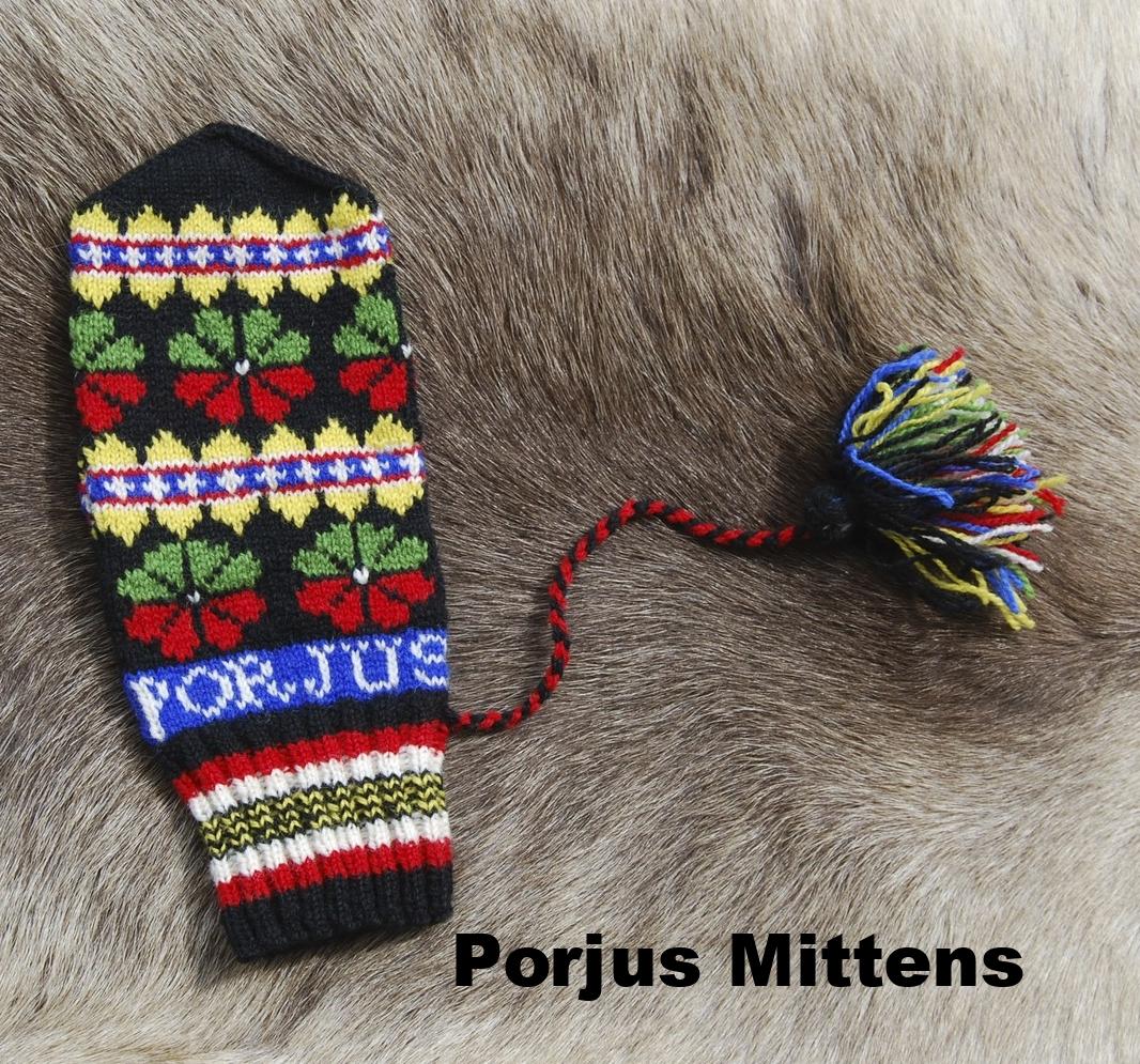 Porjus Mitten: Swedish Sámi Knitted Mitten
