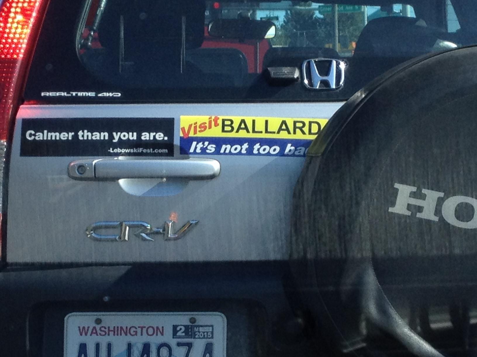Good, old fashioned Ballard humility