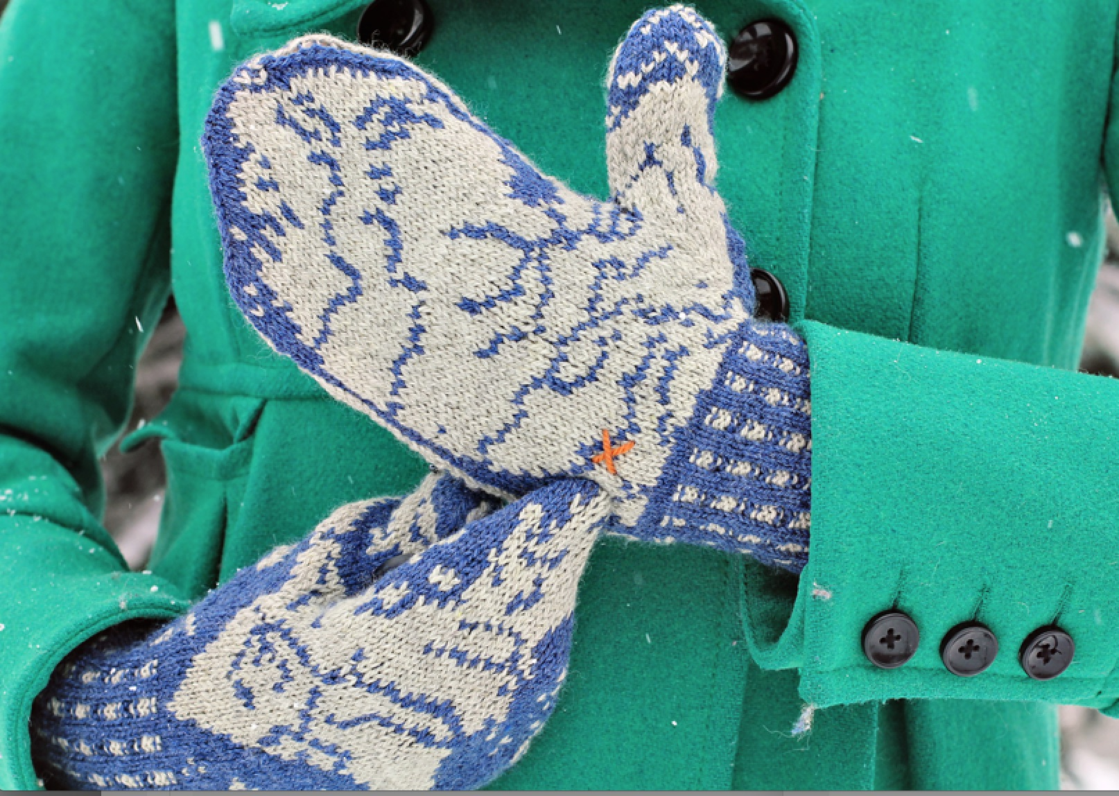 Michigander Mittens by Laura Ricketts, closeup