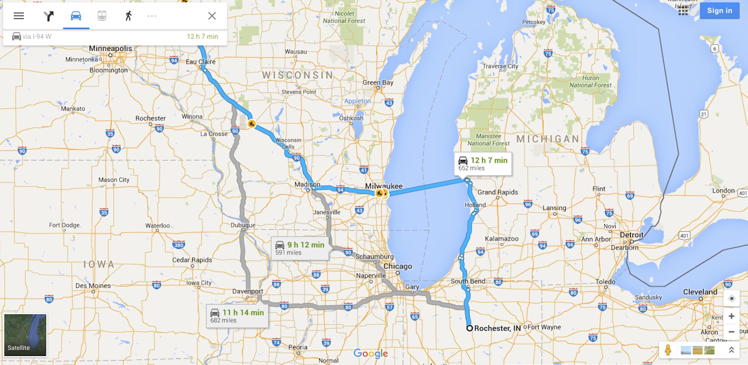 Let's drive across Lake Michigan!