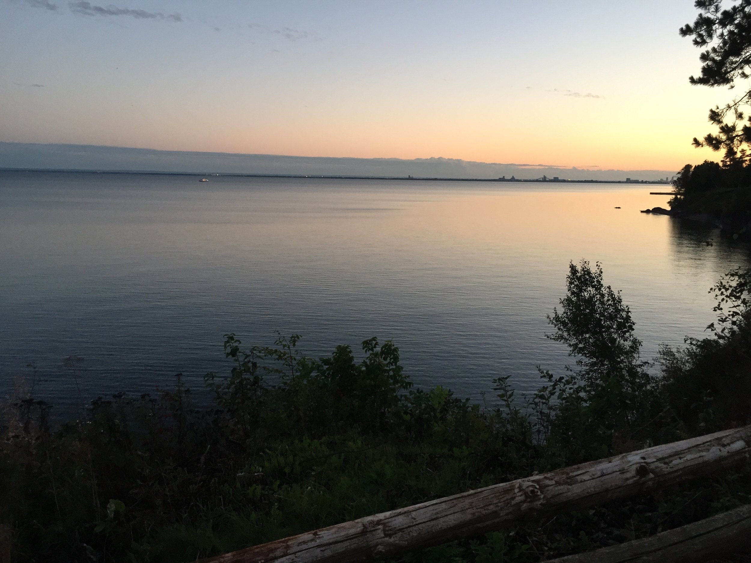 Sunset over Lake Superior from Duluth, Minnesota
