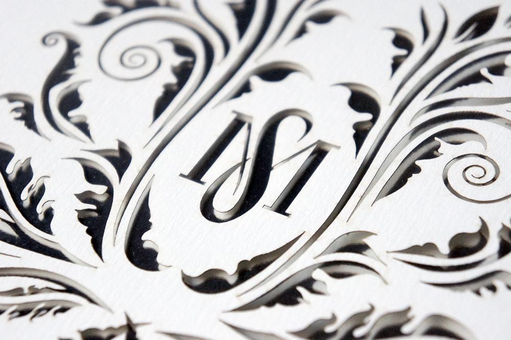 Wedding Monogram Laser Cut