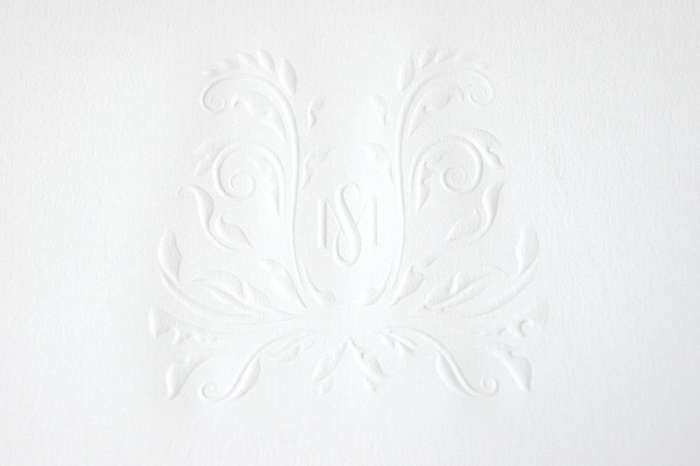 Wedding Monogram Emboss