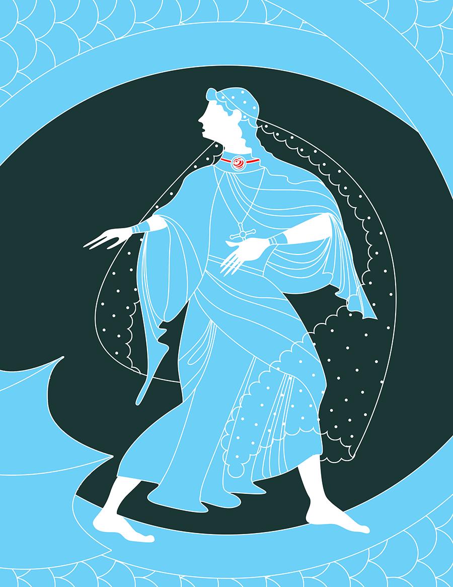Sant Jordi Princesa Illustracion