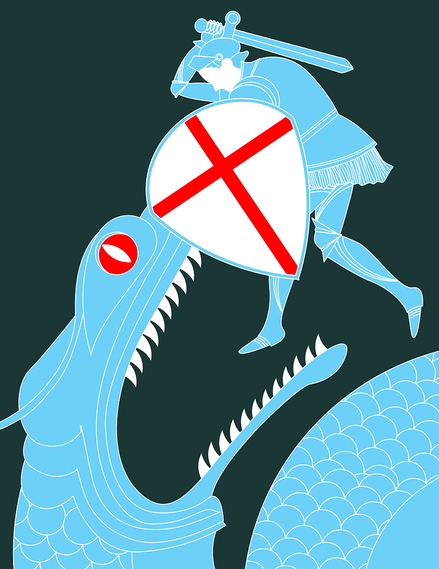 Sant Jordi Illustracion