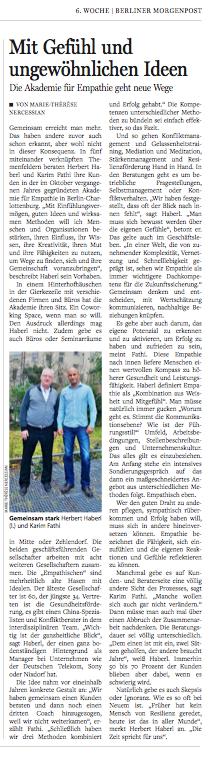 Berliner Morgenpost am 09. Februar 2014