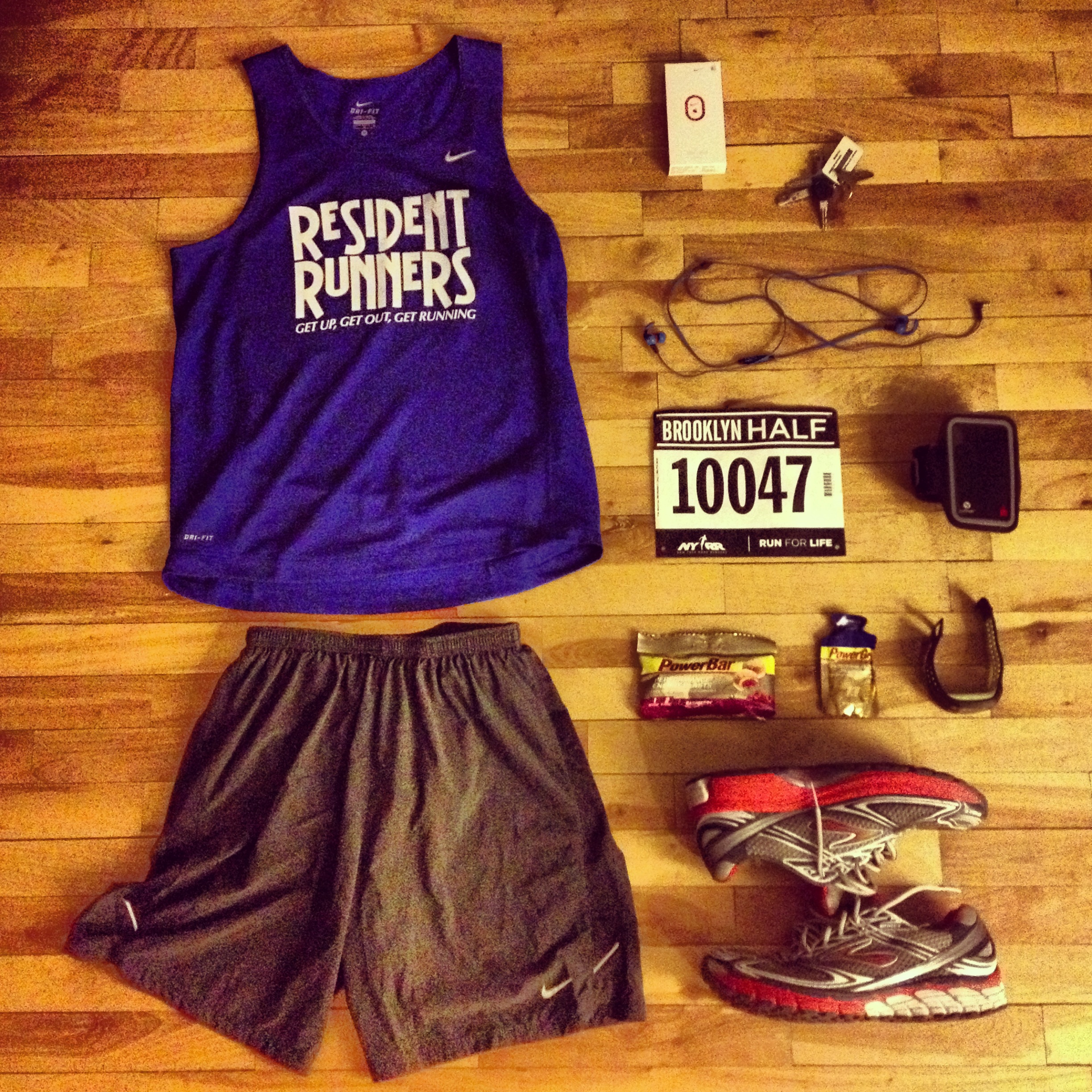 Resident Runners #OutfitGrid for the 2013 Brooklyn Half Marathon.
