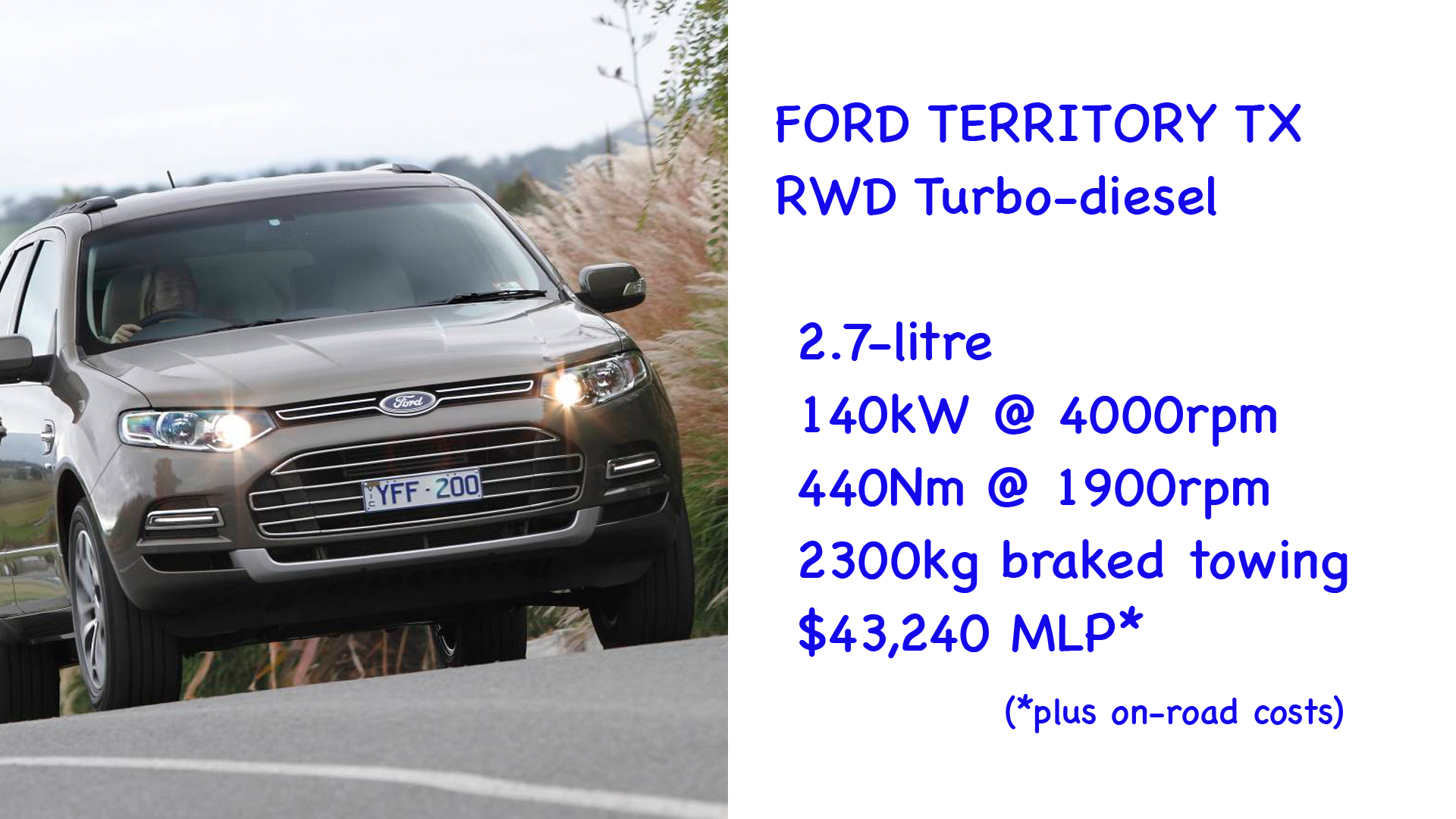 ABOVE: Ford Territory