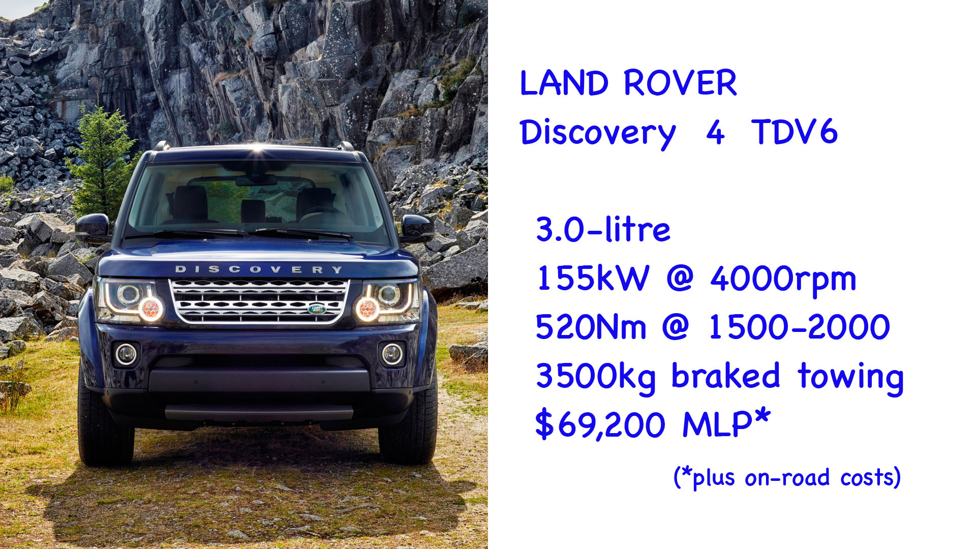 ABOVE: Land Rover Discovery