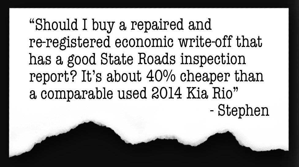 Buying a Repaired Write-off — Auto Expert by John Cadogan
