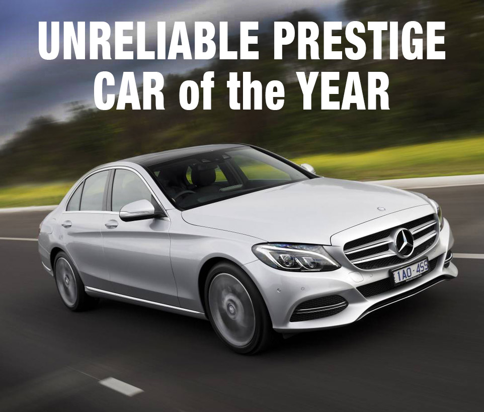 The 'mighty' Mercedes-Benz C-Class: a worthy winner ... if your criteria include elegance, cachet and chronic unreliability