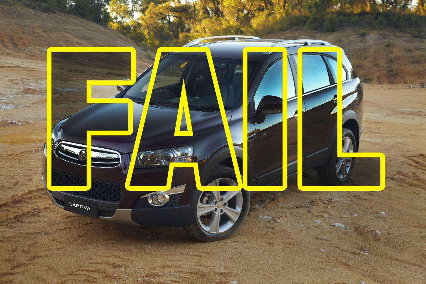 The Holden Captiva is one of the worst vehicles on Australian roads