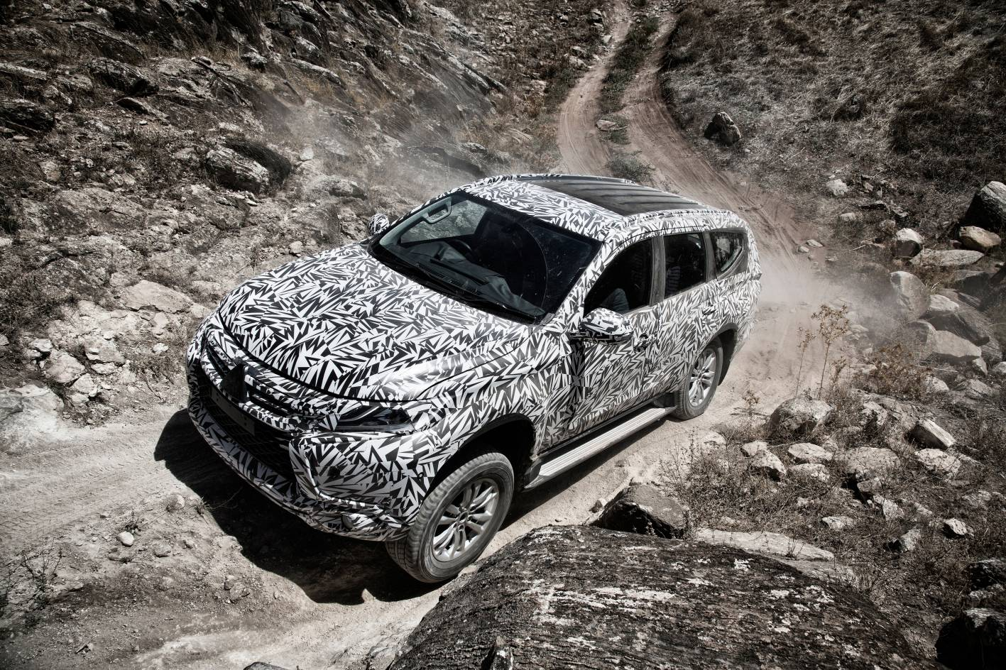 Local engineering R&D testing of the Pajero Sport in Australia