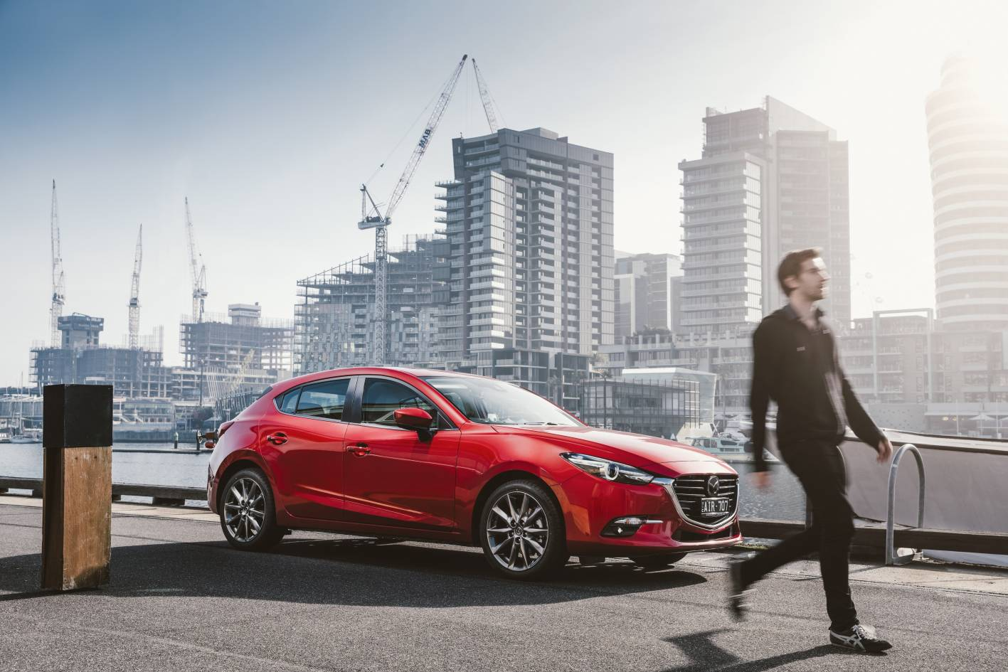 Mazda3 (above) - the logical competitor versus Swift and i30