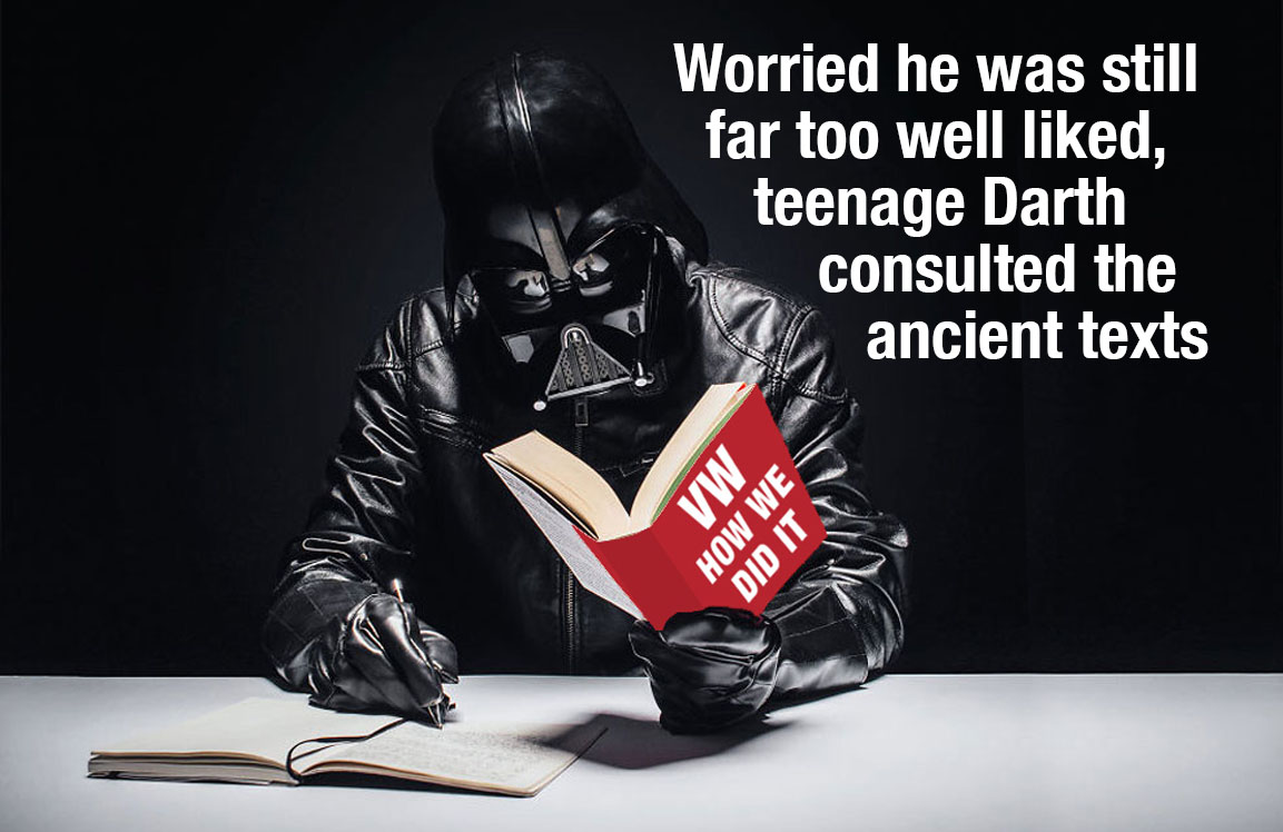 Darth Vader studied from the ancient masters...