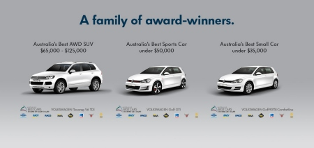 What an incredible about-face from 2014, when Volkswagen Oz endorsed the Best Cars awards by advertising how well it went in them