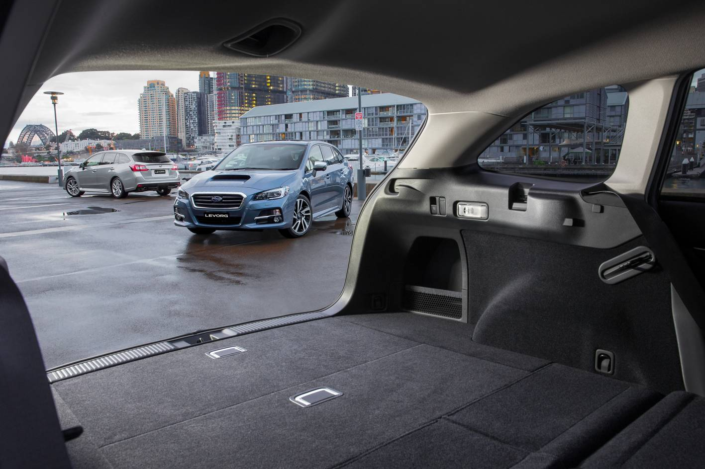 Wagon is quite practical - at least as practical as an SUV. Spilt-fold second row adds cargo space, and the seats can be flipped down via toggle switch in the cargo bay.