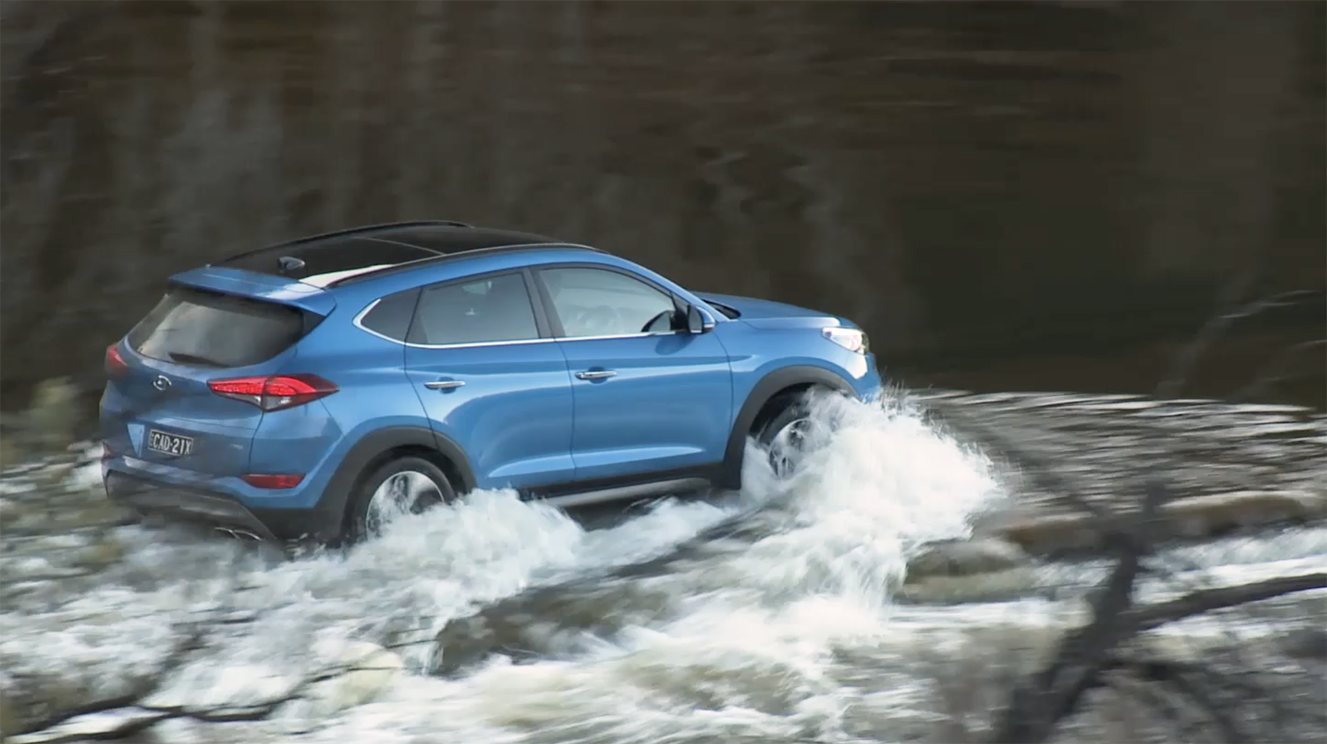 This kind of water crossing is quite safe - but falling into a hole and submerging the air intake can destroy your engine in a fraction of a second