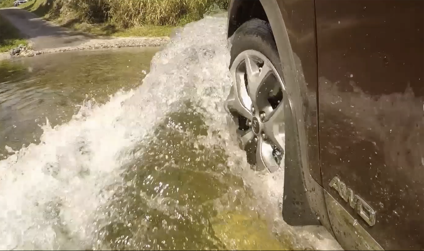 Parking in the drink - perhaps because you get stuck - can force water into your powertrain's most expensive hardware