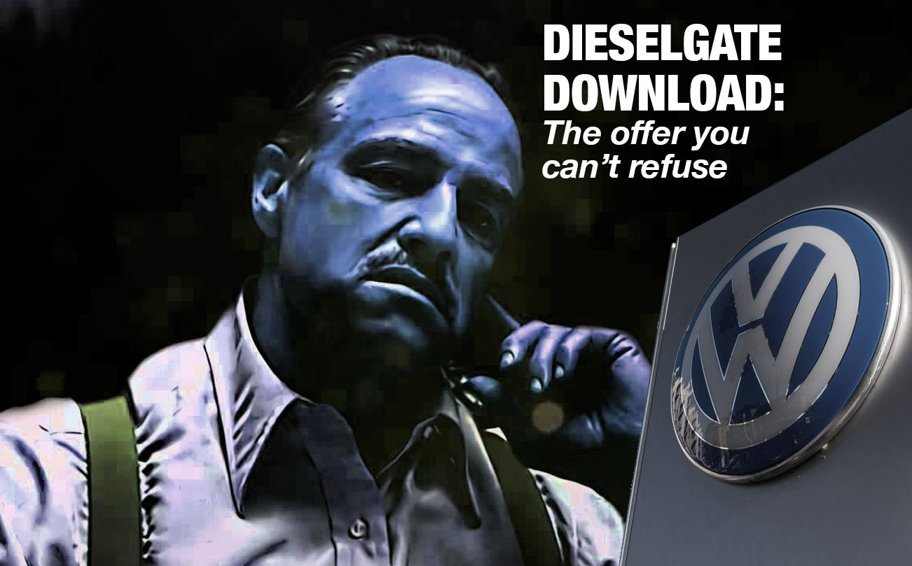 Volkswagen practices feel to me like getting a software patch, mafia-style