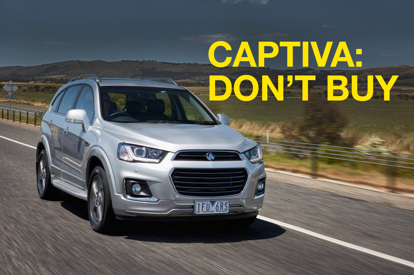 Holden Captiva: Don't buy